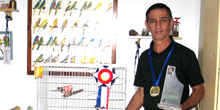 Servidor tem ave campeã em competição nacional