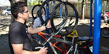 Prefeitura do Campus disponibiliza bicicletário