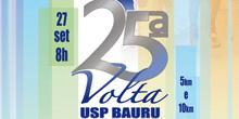 Chegando a 25ª Volta USP de Bauru. Inscreva-se!