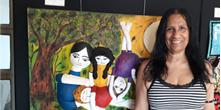 Arte panô em exibição no Centro Cultural